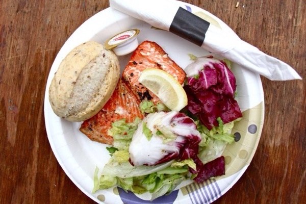 Salmon fes $15 plate