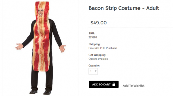 Bacon Strip Costume for Adults and Kids   Halloween Costumes