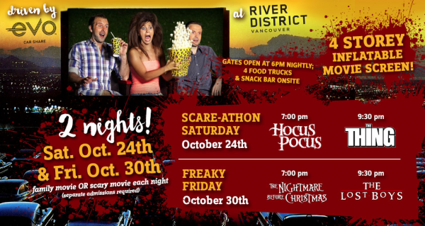 Halloween Drive In Movie Series   October 28th   29th   200 West 1st Ave Vancouver