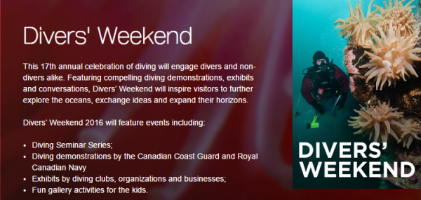 Vancouver Aquarium    Divers  Weekend
