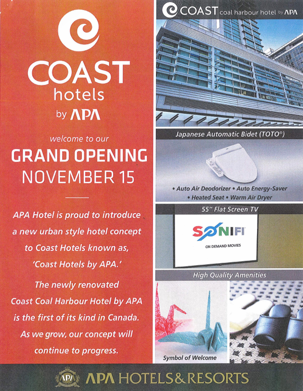 COAST Hotels Grand Openning