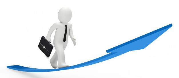 motivated-worker-walking-along-an-upward-arrow_1156-553
