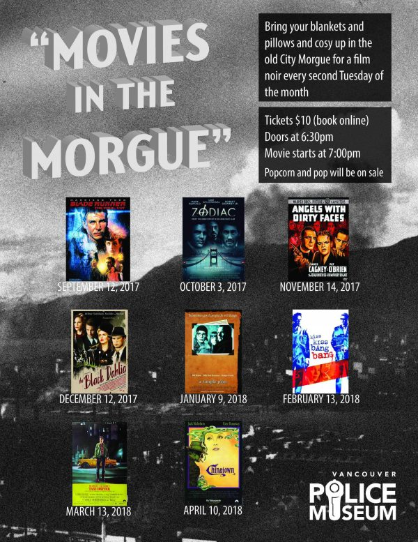 Movies in the Morgue @ Vancouver Police Museum | Vancouver | British Columbia | カナダ