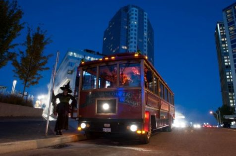 トロリーツアー(Haunted Vancouver Trolley Tour)2018 @ Canada Place