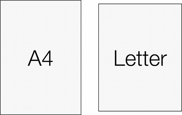 A4とレターサイズ