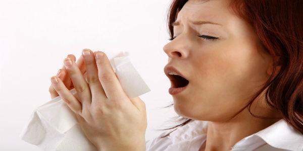 Sneezing-woman