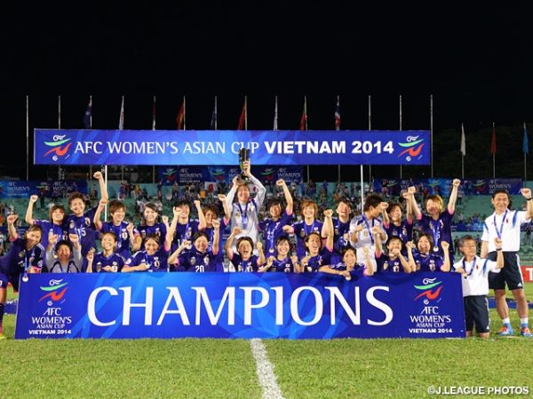 nadeshiko japan champions afc womens asian cup 2014