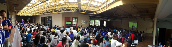 2 JAPAN vs GREECE public viewing in Vancouver panorama