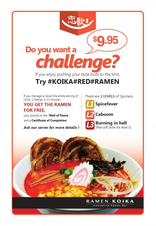 Red Ramen menu