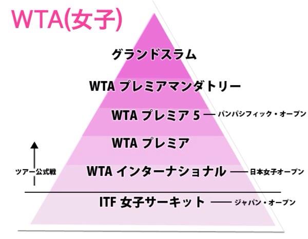 WTA ランクピラミッド