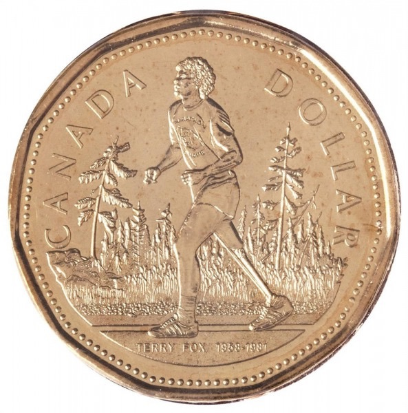Terry fox $1 coin
