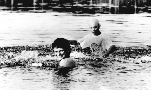 Terry & Greg swimming