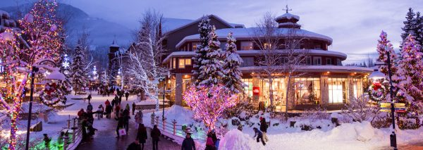Whistler village at dusk