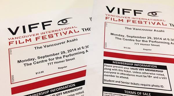 VIFF VANCOUVER ASAHI チケット
