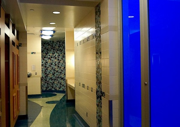 Vancouver airport shows style also in the restrooms.